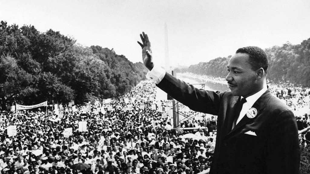 Martin Luther King Jr. addresses crowds during the March On Washington at the Lincoln Memorial, Washington DC, in 1963. Foto EPA